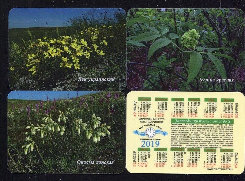 Серия календарей «Заповедник Белогорье флора» 26 штук 2019 год