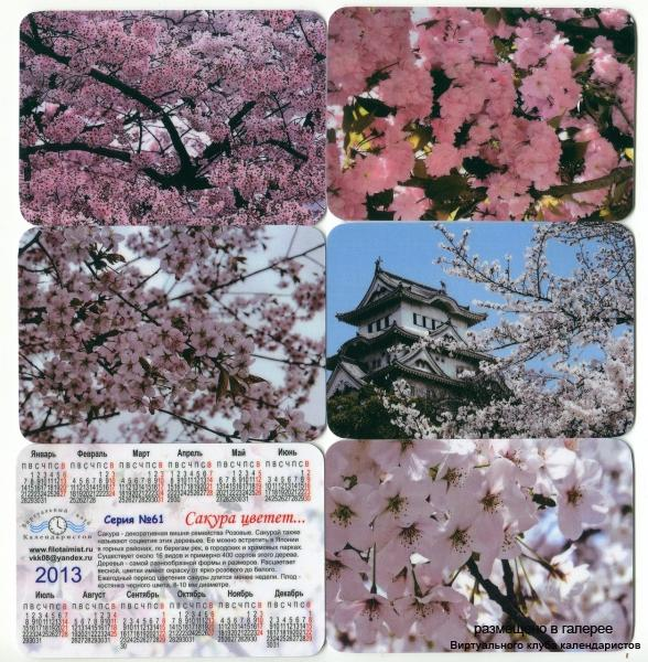 Серия календарей «Сакура» 14 штук 2013 год