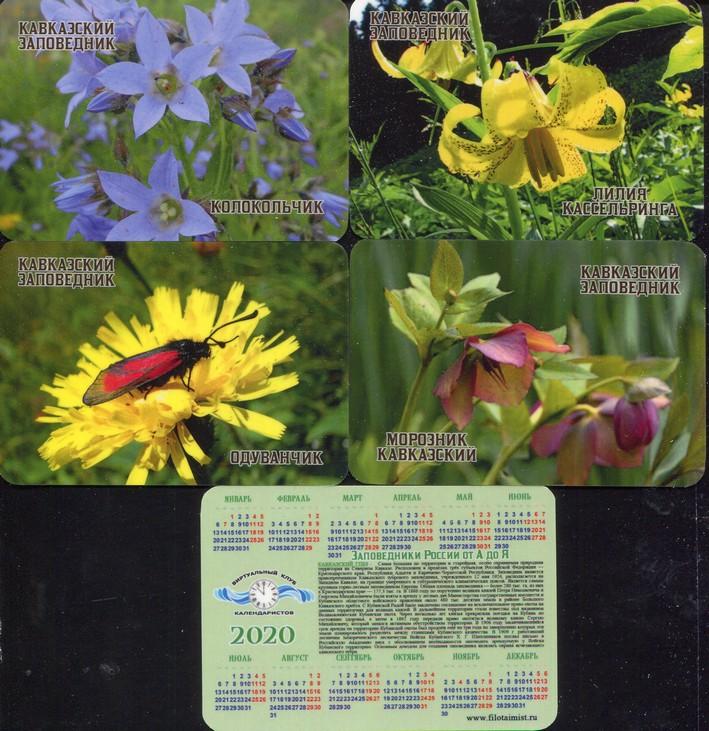 Серия календарей «Кавказский заповедник флора» 22 штуки 2020 год